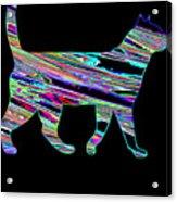 Neon Cat Cool Acrylic Print