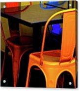 Neon Chairs 1 Acrylic Print