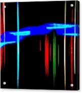 New Orleans Neon Christmas Frequency Abstract 1  Acrylic Print