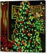 Neon Christmas Tree Acrylic Print