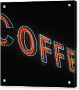 Neon Coffee Acrylic Print