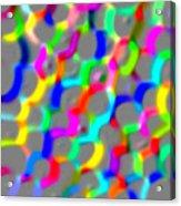 Neon Color Links Acrylic Print