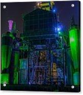 Neon Color Machinery Acrylic Print