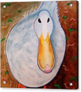 Neon Duck Acrylic Print