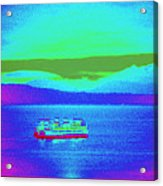 Neon Ferry Acrylic Print