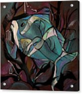 Neon Fish Acrylic Print