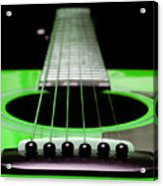 Neon Green Guitar 18 Acrylic Print by Andee Design