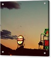 Neon In Downtown Roanoke Acrylic Print
