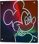 Neon Mickey Acrylic Print