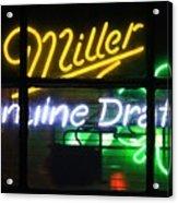 Neon Miller Beer Acrylic Print