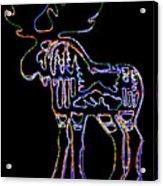 Neon Moose Acrylic Print