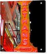 Neon Nathans Acrylic Print