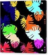 Neon Palm  Acrylic Print