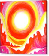 Neon Red Sky And Sea Acrylic Print
