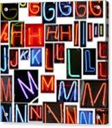 neon series G through N Acrylic Print