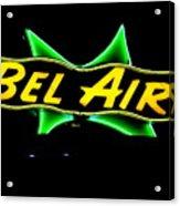 Neon Sign - Bel Air Motel - Wildwood Acrylic Print