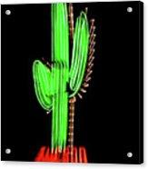 Neon Tucson Cactus Acrylic Print