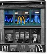 Neon Twin Towers Acrylic Print