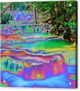 Neon Waterfalls Acrylic Print