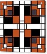 Neoplasticism Symmetrical Pattern In Tijuna Gamboge Acrylic Print
