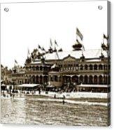Neptune Casino And Onion-domed Bandstand, Santa Cruz Beach Circa 1904 Acrylic Print