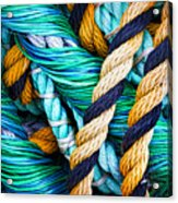 Nets And Knots Number Five Acrylic Print by Elena Nosyreva
