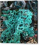 Netting And The Sea Acrylic Print