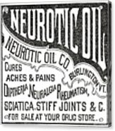 Neurotic Vintage Ad Acrylic Print