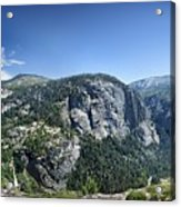 Nevada And Vernal Falls From Near Grizzly Peak - Yosemite Valley Acrylic Print