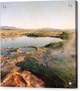 Nevada Hotspring Acrylic Print