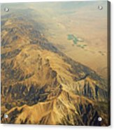 Nevada Mountain Terrain Aerial Acrylic Print