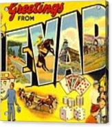 Nevada Postcard Acrylic Print