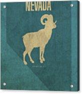 Nevada State Facts Minimalist Movie Poster Art Acrylic Print
