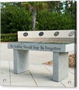 Never Forget Acrylic Print