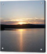 Neversink Reservoir At Sunset Acrylic Print by Kevin Croitz