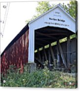 Nevins Covered Bridge Indiana Acrylic Print