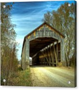 Nevins Covered Bridge Acrylic Print