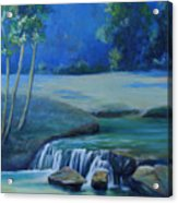 New Braunfels River Scene  Acrylic Print