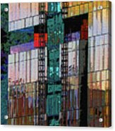 New Building Reflecting Colors Acrylic Print