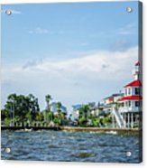 New Canal Lighthouse And Lakefront - Nola Acrylic Print