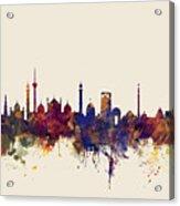 New Delhi India Skyline Acrylic Print