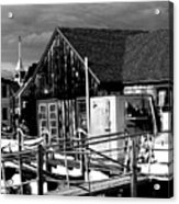 New England Boat House Acrylic Print