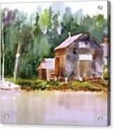 New England Boat Repair Acrylic Print
