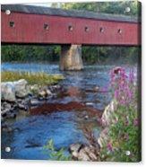 New England Covered Bridge Connecticut Acrylic Print