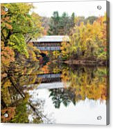 New England Covered Bridge No.63 Acrylic Print