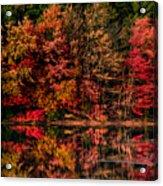 New England Fall Foliage Reflection Acrylic Print