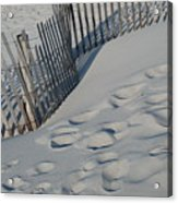 New England Footprints Acrylic Print