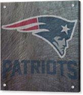 New England Patriots Translucent Steel Acrylic Print
