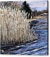 New England Pond Acrylic Print