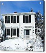 New England Winter Acrylic Print